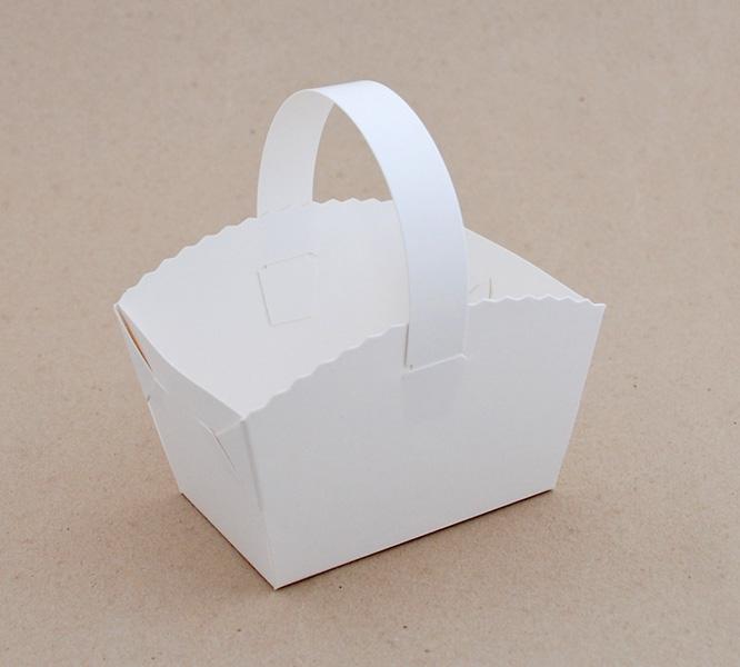 e694248b2a Košíček na svatební koláčky bílý